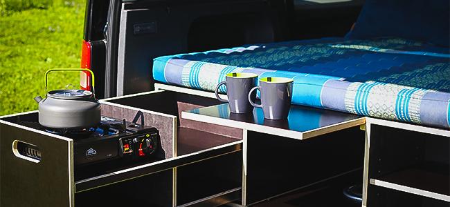 Wohnmobil Urlaub Camper Matratze Kaffee morgen
