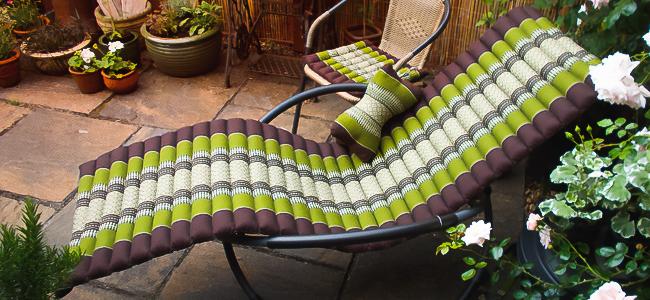 Sonnenliege Rollmatte grün Garten Balkon Terrasse