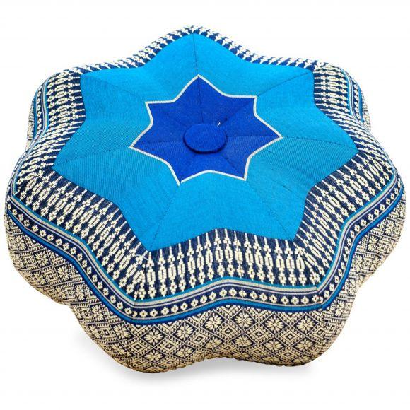 Zafu Meditationskissen, kleiner Stern, blau