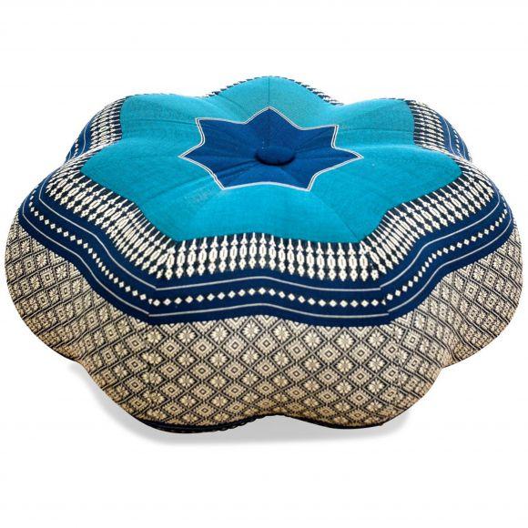 Zafu Meditationskissen, großer Stern, blau