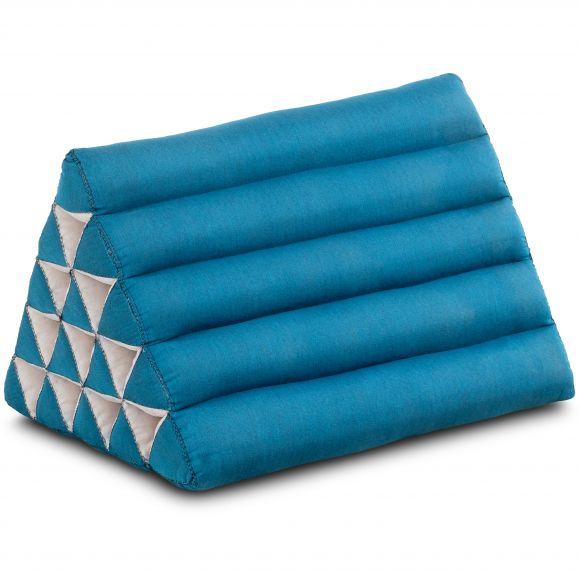 Kapok Dreieckskissen, Thaikissen, Rückenlehne extrahoch, hellblau, einfarbig
