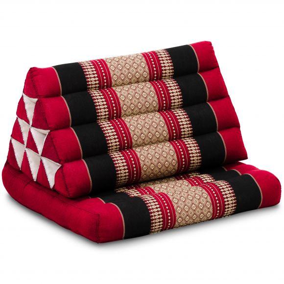 Kapok Thaikissen, Dreieckskissen mit 1 Auflage, rot/schwarz