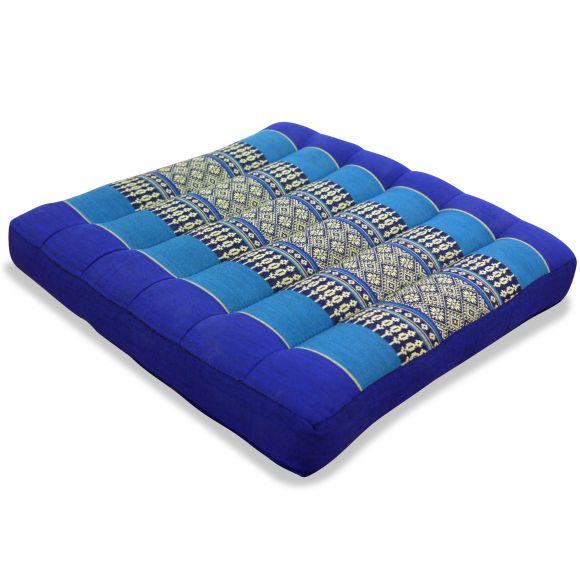 Kapok Thaikissen, Sitzkissen, Gr. M, blau