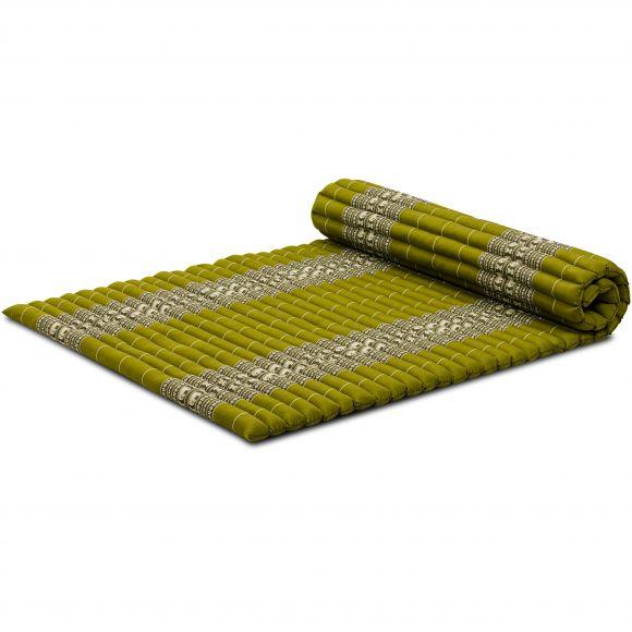 Kapok Rollmatte, Gr. L, grün / Elefanten