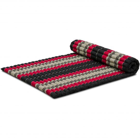 Kapok Rollmatte, Gr. L, schwarz / rot