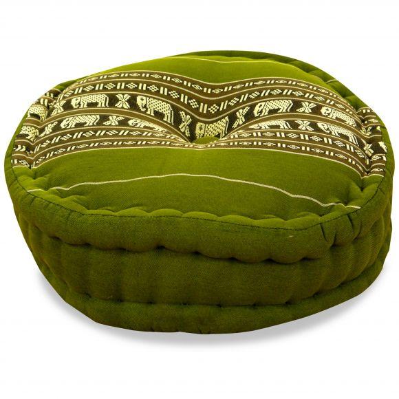 Zafu Meditationskissen,  grün / Elefanten