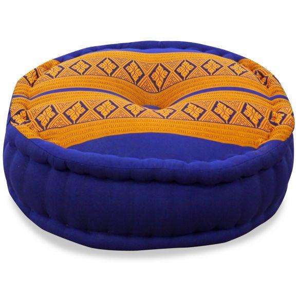 Zafu Meditationskissen, blau / gelb