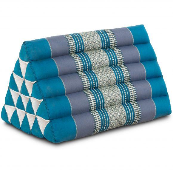 Kapok Dreieckskissen, Thaikissen, Rückenlehne extrahoch, hellblau