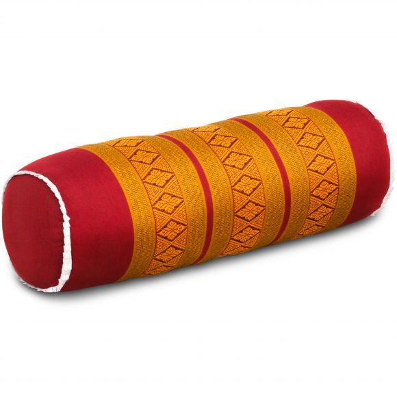 Kapok Nackenrolle, rot / gelb