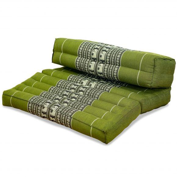 Stützkissen, Yogakisssen (klappbar)  grün / Elefanten