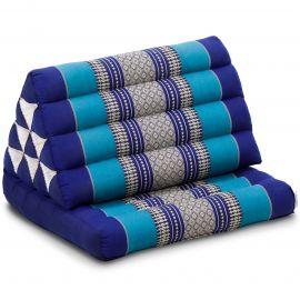 Kapok Thaikissen, Dreieckskissen mit 1 Auflage, blau