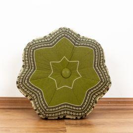 Zafu Meditationskissen, kleiner Stern, grün / Elefanten