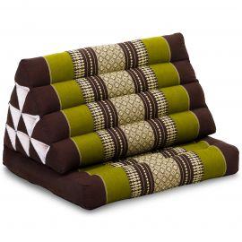 Kapok Thaikissen, Dreieckskissen mit 1 Auflage, braun/grün
