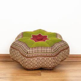 Zafu Meditationskissen, kleiner Stern, rot / grün