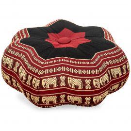 Zafu Meditationskissen, kleiner Stern, rot / Elefanten