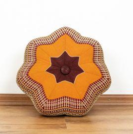 Zafu Meditationskissen, kleiner Stern, orange