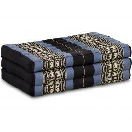 Kapok Matratze für Kinder, Faltmatratze  blau-Elefanten