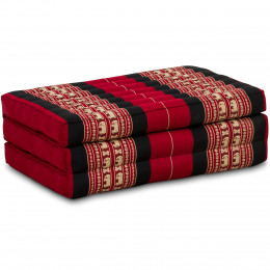 Kapok Matratze für Kinder, Faltmatratze  rot-Elefanten