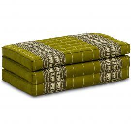 Kapok Matratze für Kinder, Faltmatratze  grün-Elefanten