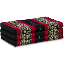 Kapok Matratze für Kinder, Faltmatratze  schwarz-Elefanten