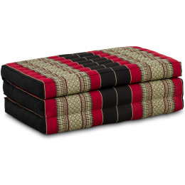 Kapok Matratze für Kinder, Faltmatratze  schwarz-rot
