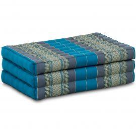 Kapok Matratze für Kinder, Faltmatratze  hellblau