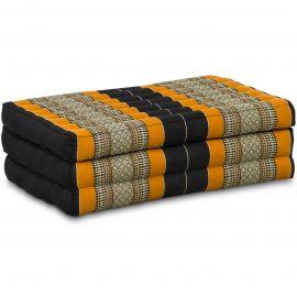 Kapok Matratze für Kinder, Faltmatratze  schwarz-orange