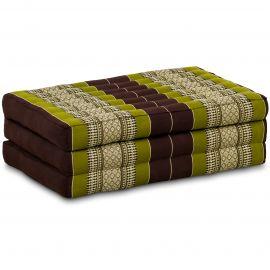 Kapok Matratze für Kinder, Faltmatratze  braun-grün