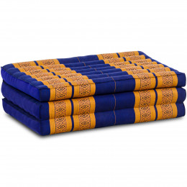 Kapok Matratze für Kinder, Faltmatratze  blau-gelb