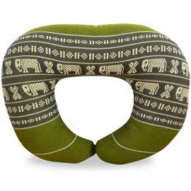 Nackenhörnchen, Nackenkissen  grün/Elefanten