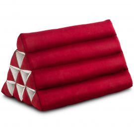 Kapok Dreieckskissen, Thaikissen, Rückenlehne, rot einfarbig