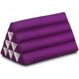 Kapok Dreieckskissen, Thaikissen, Rückenlehne, lila einfarbig
