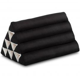 Kapok Dreieckskissen, Thaikissen, Rückenlehne, schwarz einfarbig