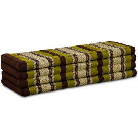 Kapok Faltmatratze XL, Klappmatratze, braun/grün