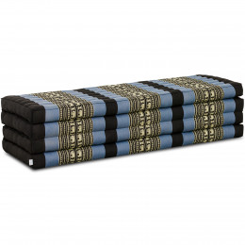 Kapok Faltmatratze XL, Klappmatratze, blau/Elefanten