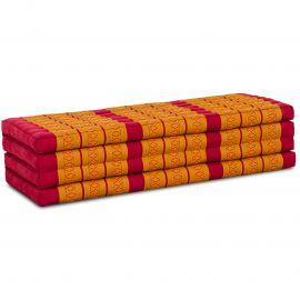 Kapok Faltmatratze XL, Klappmatratze, rot/gelb