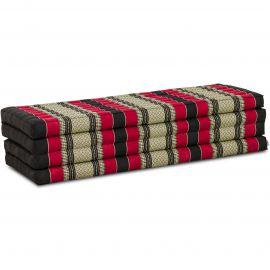 Kapok Faltmatratze XL, Klappmatratze, schwarz/rot