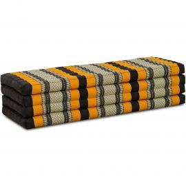 Kapok Faltmatratze XL, Klappmatratze, schwarz/orange