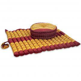Kapok, Zafukissen mit extragroßem Steppkissen XL, rot-gelb
