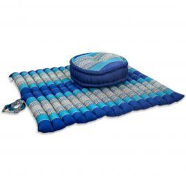 Kapok, Zafukissen mit extragroßem Steppkissen XL, blau