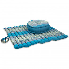 Kapok, Zafukissen mit extragroßem Steppkissen XL, hellblau