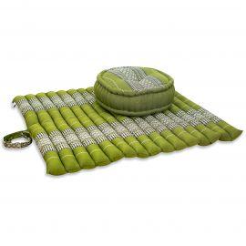 Kapok, Zafukissen mit extragroßem Steppkissen XL, grün