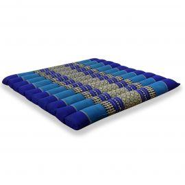 Kapok Thaikissen, Steppkissen, Gr. L, blau