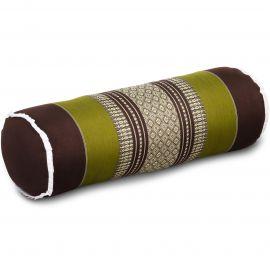 Kapok Nackenrolle, braun / grün