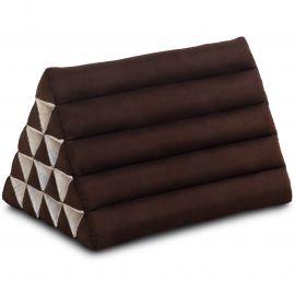 Kapok Dreieckskissen, Thaikissen, Rückenlehne extrahoch, braun, einfarbig