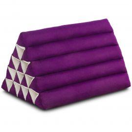 Kapok Dreieckskissen, Thaikissen, Rückenlehne extrahoch, lila, einfarbig
