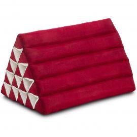 Kapok Dreieckskissen, Thaikissen, Rückenlehne extrahoch, rot, einfarbig