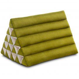 Kapok Dreieckskissen, Thaikissen, Rückenlehne extrahoch, grün, einfarbig
