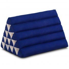 Kapok Dreieckskissen, Thaikissen, Rückenlehne extrahoch, blau, einfarbig