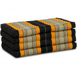 Kapok Faltmatratze, Klappmatratze, schwarz/orange